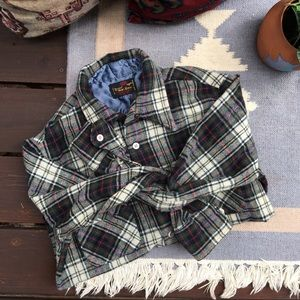 Vintage Plaid Flannel Button Down Wool Shirt